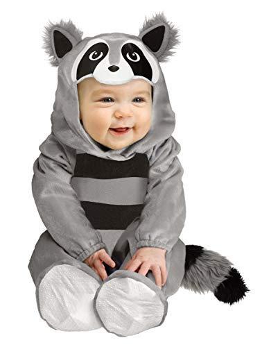 (Horror-Shop Baby Tierkostüm Waschbär | kuschelweich für Fasching S,M S (6-12 Monate))