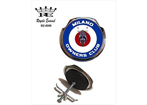 Royale Emaille Royale Car Grill Badge-Milano Eigentümer Club B2. 4066 -