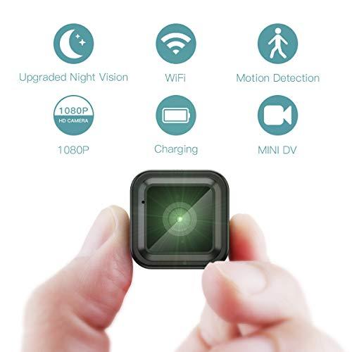 Descripción del producto  Ya sea que desee controlar su hogar, su oficina o hacer videos aventureros fuera de casa, lo tenemos todo en una sola cámara oculta:Mini cámara espía HD 1080 P Soporta wifi ,no es compatible con señales de Wi-Fi a 5 GHz, sol...