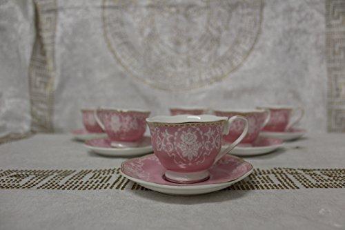 Medusa Geschenk Service Kaffee Gedeck Barock Blumen Geschirr Set Espresso Porzellan 12 Tlg Versac...