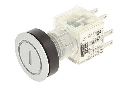 Schlegel 23.000.830 Drucktaste, Ringbeleuchtung und Symbol I, beleuchteter Tastkontaktgeber 1 Öffner/1 Schließer, 24V LED
