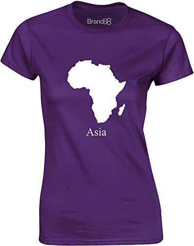Brand88 - Asia, Mesdames T-shirt imprimé Pourpre/Blanc