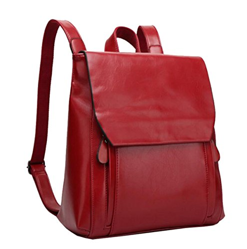 mme-sac-a-dos-en-cuir-fermeture-a-glissiere-multifonction-portefeuille291133-red