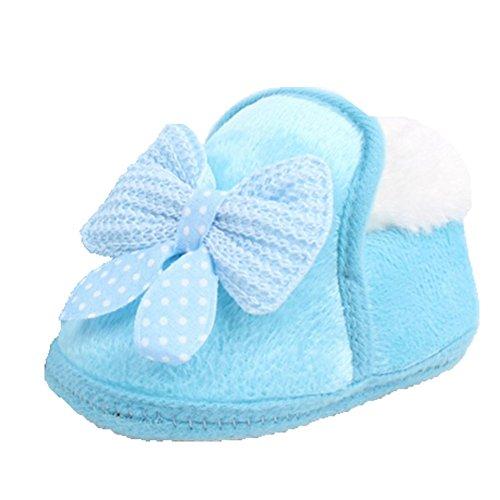 Ohmais Enfants Chaussure Bebe Garcon Fille Premier Pas Chaussure premier pas bébé Sandale Bleu