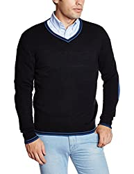 Flying Machine Mens Acro Wool Sweater (8907259129600_FMSW4238_Medium_Black)