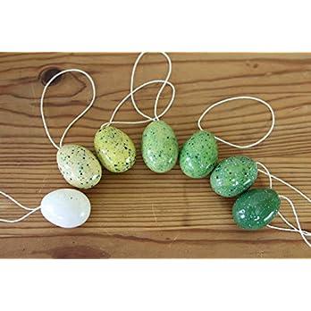 7 Stück kleine Ostereier aus Keramik