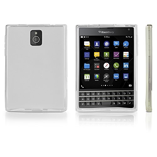 Blackberry Passport Fall, BoxWave® [Arctic Frost Crystal Slip] flexibel, Form, TPU Case für Blackberry Passport–Frosted-klar (Blackberry Passport-klarer Fall)