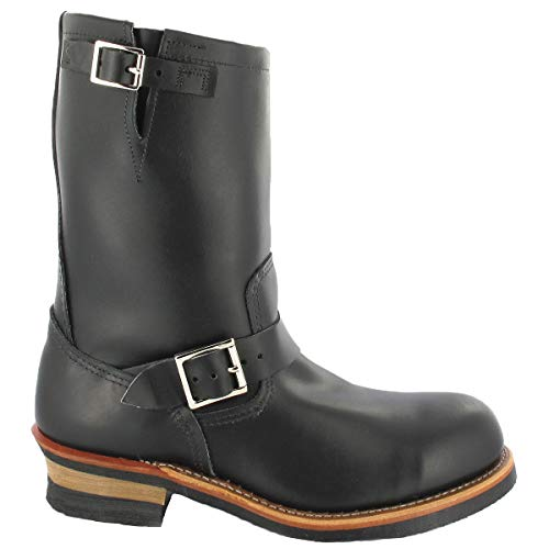 Red Wing Shoes 2268-D Black Chrome Engineer Steel Toe (44, Black Chrome)