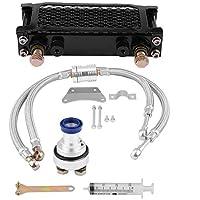 KIMISS Kit de radiador de enfriamiento de aceite Enfriador de aceite del motor de motocicleta para