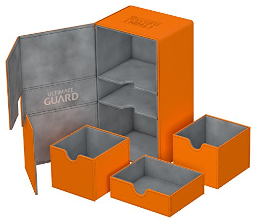 Ultimate Guard UGD010779 Twin Flip´n´Tray Deck Case 200+ Standardgröße XenoSkin Orange (Twin Deck Case)