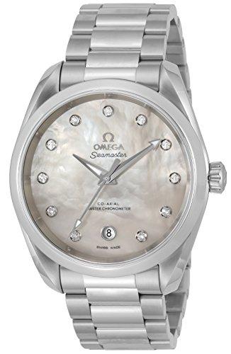 Omega Seamaster Aqua terra automatico cronometro Diamond orologio da donna 220.10.38.20.55.001