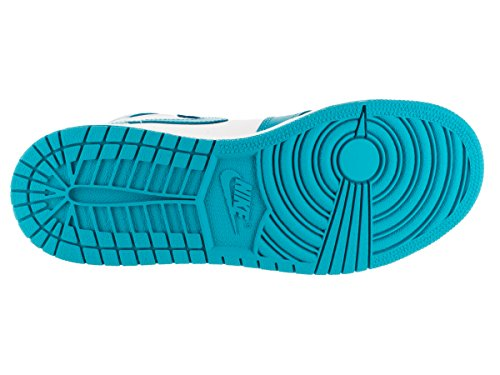 Nike Air Jordan 1 Retro High Og Bg, Scarpe da Basket Bambino Bianco / Blu (White / Dk Powder Blue)