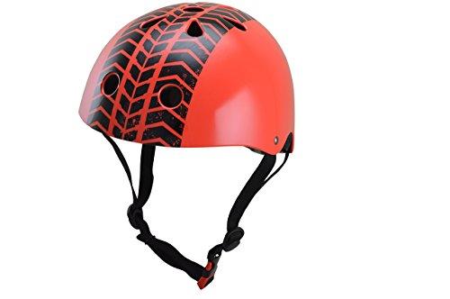 Street Fighter Leichter (kiddimoto 2kmh030m - Design Sport Helm Tyre, Street Fighter M für Kopfumfang 53-58 cm, 5-12+ Jahre)