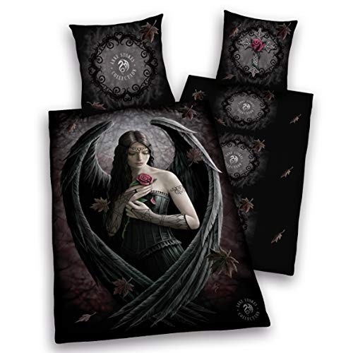e glatt Anne Stokes Angel Rose Engel Rose 135 x 200 cm Geschenk NEU Wow - All-In-One-Outlet-24 - ()