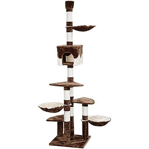 Songmics Árbol para gatos Rascador con caseta nidos plataformas 240 - 260 cm PCT88K