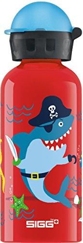 Sigg Kinder Trinkflasche SIGG Underwater Pirates, Kinder Trinkflasche, 0.4 L, Auslaufsicher, BPA Frei, Aluminium, Rot, Mehrfarbig, 0.4, 8624.70