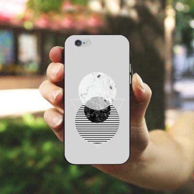 Apple iPhone X Silikon Hülle Case Schutzhülle Grafik Art Abstrakt Silikon Case schwarz / weiß