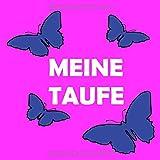 Meine Taufe: Gästebuch Taufe / Für Mädchen In Rosa Mit Schmetterlingen