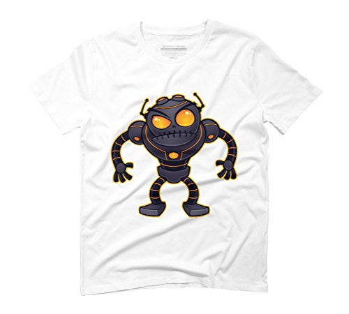 Angry Robot Men's Graphic T-Shirt - Design By Humans White