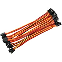 Price comparsion for OliYin 20pcs 5.90inch 15cm 150mm Male to Male Lead Plug Servo Extension Wire Cable Line RC Model Aircraft Stranded 22awg 60 Cores Futaba JR