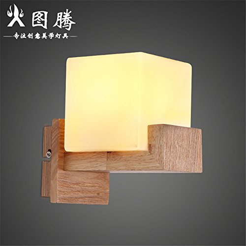 Vintage Wall Sconce Lamp Wall Lights The Nordic minimalist creative wooden glass wall lights American living room bedroom bed staircase to the hallway wall lights of double and single wall lamp head