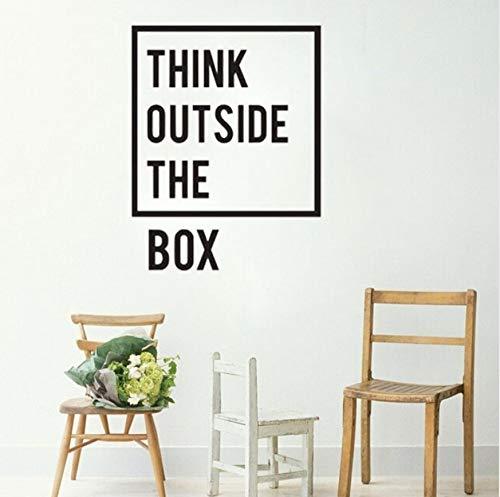 Inspirational Motivation Büro Wand Dekor Denken außerhalb der Box Zitate Dekor Wandbild Kunst