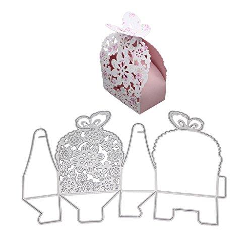(nankod Metall Schmetterling Geschenk-Box Formen Schablonen DIY Scrapbooking Karte Prägung)