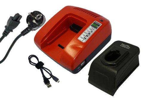 PowerSmart® 7.2-18V Chargeur pour Black & Decker A9251, A9252, A9262, A9267, A9274, A9275, A9276, A9282, A9527, FSB96, PS120, PS120A, PS130, PS130A, PS140, PS140A, PS145 (Rouge)