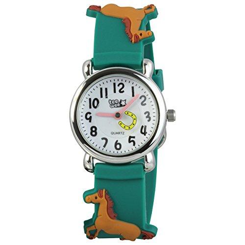 Teenie UW767G Kinder-Armbanduhr Kinder, Kautschukband Farbe Grün -