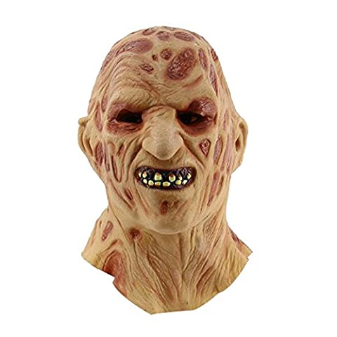 Masque Zombie Adultes Horreur Masque Latex Halloween Carnaval Deguisement (A)