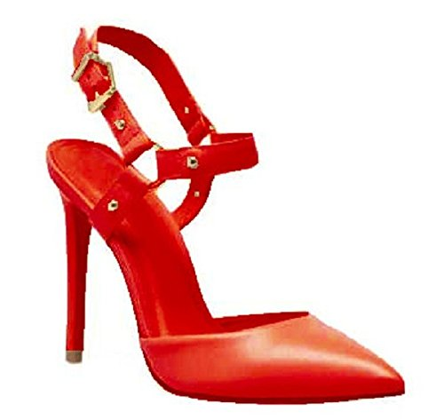 Escarpin en cuir Model SONIA par HGilliane Design Eu 33 au 44 red