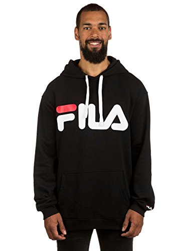 Fila Classic Logo Hoody, Sweatshirt,Schwarz,L Schwarz Logo Hoody