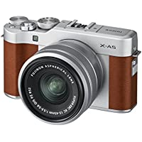 Fujifilm X-A5 Camera with Silver XC 15-45 Lens - Brown