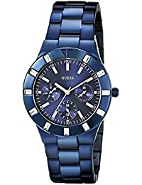 GUESS Glisten Analogue Blue Dial Stainless Steel Bracelet Women's Watch - W0027L3