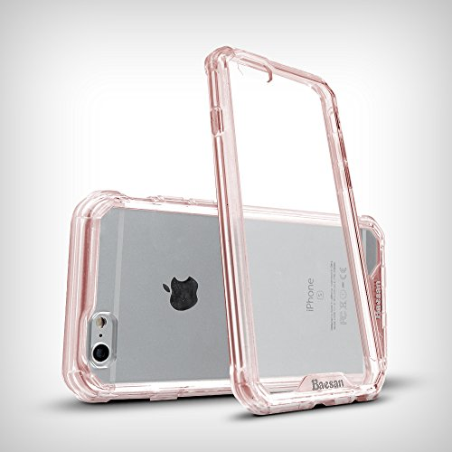 iPhone 6 Case,Easymoo Air Cushion Shockproof TPU Bumper + Clear PC Hard Back Protective Case for Apple iPhone 6/iPhone 6s -- Pink Pink