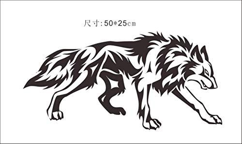 tonywu Autoadesivo Lupo Totem Sticker Animale Lupo Auto Adesivo Impermeabile Protezione Solare Decalcomania Generale Corpo Copertina Adesivo Decorativo 50X25CM U