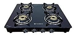 Faber Cooktop / Gas Stove Hob Splendor-4BB BK Black Toughened Glass