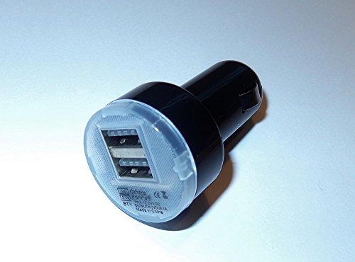 Preisvergleich Produktbild 2-fach USB Auto KFZ Dual Lade-Adapter Doppel Ladegerät Zigarettenanzünder schwarz