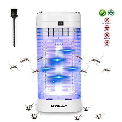 DEKINMAX Elektrischer Insektenvernichter, UV Insektenvernichter 18W Mückenlampe Schutz vor Elektrischem Schlag Tragbare Mückenfalle Fliegen Moskitos Für Innen Schlafzimmer Gärten.