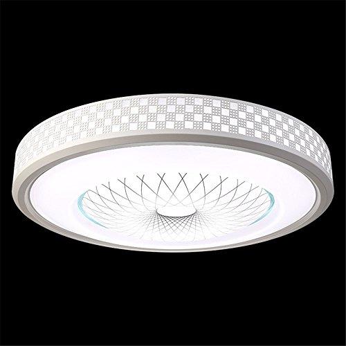 BRIGHTLLT Deckenleuchte LED Acryl kreative Heimat modernen Wohnzimmer runden Schlafzimmer Energiesparlampe stufenlose Dimmung Gürtel Fernbedienung, 420mm (Gürtel 420)