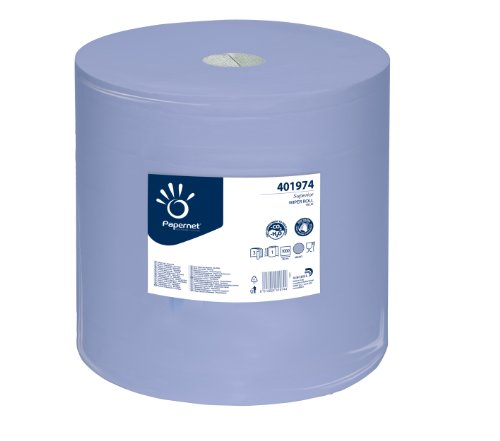 Putzrolle blau 3-lagig 1000 Blatt 36x36 cm perforiert saugstark Reinigunstücher Putzpapier Wischtücher -