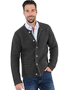 Herrenstrickjacke PETE Anthrazit - (HAUSSTEIN GREY)