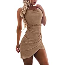 cheap for discount 58f13 49bc5 Vestiti donna Aderenti - Oro - Amazon.it