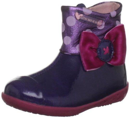 Agatha Ruiz de la Prada Monia, Chaussures basses mixte bébé Violet (A-Lila Y Estampado)