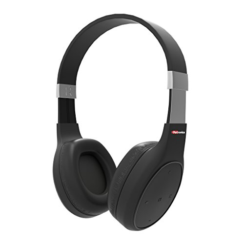 Portronics POR 762 Muffs Plus Wireless Bluetooth Headphone With AUX Port   Black  Over Ear Headphones
