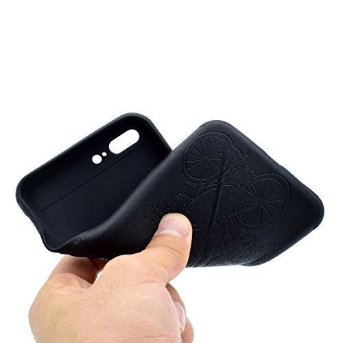 """inShang Hülle für iPhone 7 Plus 5.5"""" ,Ultra Schlank und leicht TPU Bequem Schutzhülle Rückcover (Back Case) design für Handy iPhone7 Plus 5.5 inch, Black tower"""