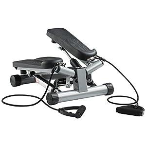Ultrasport Up-Down-Stepper, Mini-Fitnessgerät inkl. Trainingscomputer mit vielen Funktionen, Fitnesstraining für Zuhause, Heimtrainer, Swingstepper für Bein- und Po-Training