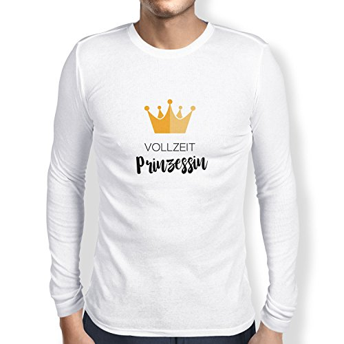 NERDO Vollzeit Prinzessin - Herren Langarm T-Shirt, Größe XXL, ()