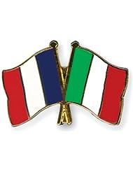 Yantec amitié Spin France Italie broches Broche Double Drapeau npin