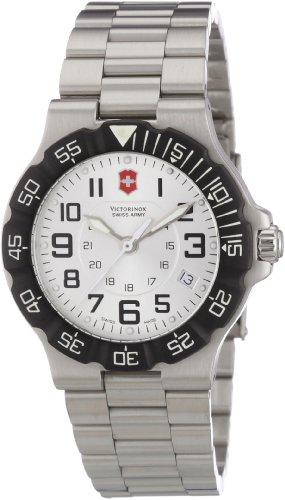 Victorinox Active 241346 - Reloj analógico de cuarzo para hombre, correa de acero inoxidable color plateado